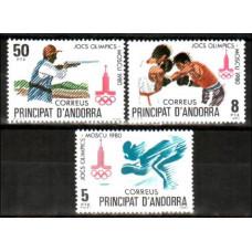1980 Andorra spa, Michel 133-35 1980 Olympiad Moskva 1.50 ?