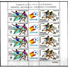 1982 Andorra spa, Michel 155-56KL 1982 World championship on football of Spanien 18.00 ?