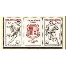 1982 Andorra fr Mi.323-24 1982 World championship on football of Spanien 2.50