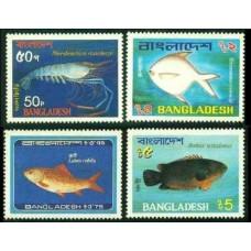 1983 Bangladesh Mi.190-193 Sea fauna 11.00 ?