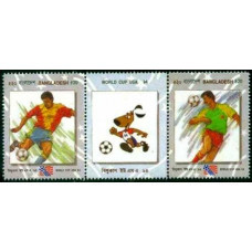 1994 Bangladesh Mi.482-483Tab 1994 World championship on football of USA 6.00 ?