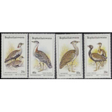 1983 Bophuthatswana Mi.112-115 Birds of the veld 4,20
