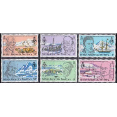 1980 British Antarctic Territory Mi.78-83 Ships with sails 2,80
