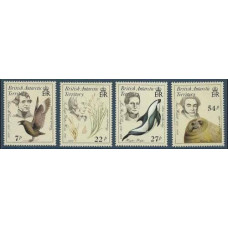 1985 British Antarctic Territory Mi.128-131 Naturalists 13.00 €