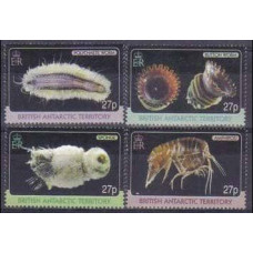 2010 British Antarctic Territory Mi.515-518 Sea fauna