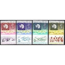 1971 British Antarctic Territory Mi.39-42 ** Antarctic treaty 70,00 €