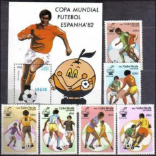 1982 Cape Verde Islands Michel 458-3+464/B5 1982 World championship on football of Spanien 13.00 €