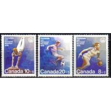 1976 Canada Mi.617-619 1976 Olympiad Montreal 1.80
