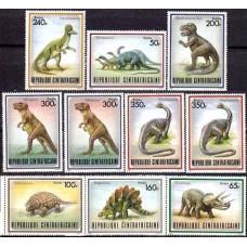 1988 Centralafrica Michel 1312-1319 Dinosaurs 17.00 ?