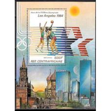 1982 Centralafrica Michel 858/B192 1984 Olympiad Los Angeles 5.50 ?