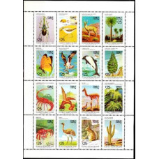 1987 Chile Mi.1189-1204KL Fauna and flora 19.00 €
