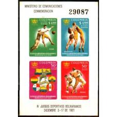 1961 Colombia Michel 1005-08/B25b Sport / Football 10.00 ?