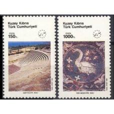 1990 Cyprus (Turkish) Mi.283-284 Europa 1,50