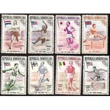 1957 Dominican Republic Michel 560-567 1956 Olympiad Melbourne ?