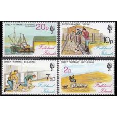 1976 Falkland Islands Mi.245-248 Ships 9,00 €