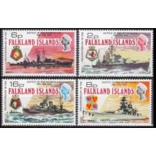 1974 Falkland Islands Mi.232-235 Ships 32,00 €