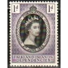 1953 Falkland Islands Dependencies Michel 18** Elizabet II 1.70 €