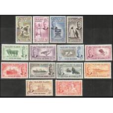 1952 Falkland Islands Michel 102-115* Definitives, George VI 240.00 €
