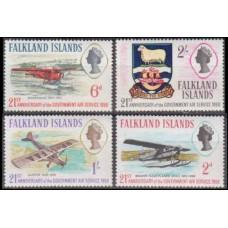 1969 Falkland Islands Mi.175-178 Planes 4,00