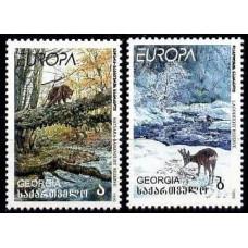 1999 Georgia Michel 312-13 Fauna / Europa 3.50 ?