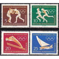 1960 Germany, East(DDR) Michel 746-749 1960 Olympiad Rim 6.50 ?