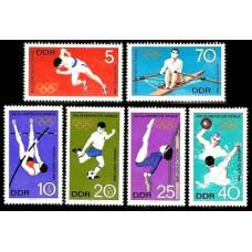 1968 Germany,East(DDR) Mi.1404-1409 1968 Olympiad Mexiko 2.80 ?