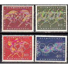 1960 Germany, West Michel 332-335 1960 Olympiad Rim 3.00 ?