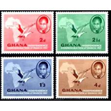 1957 Ghana Mi.1-4 Independence 0.80 ?