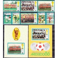 1986 Grenadines & St Vincent Mi.483-490+491/B16+492/B17 1986 World championship on football of Mexico 16,50 €