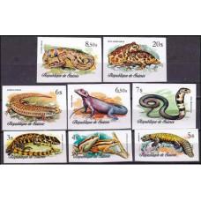1977 Guinea Mi.782-789b Reptiles 36.00 ?