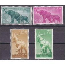 1957 Guinea Espanola Mi.334-337 Fauna 1,70 €