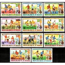 1980 Haiti Michel 1374-1384 World championship on football 1934-1978 8.50 ?