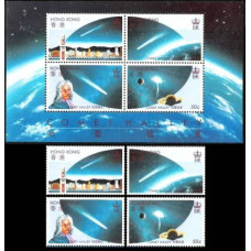 1986 Hong Kong Mi.478-81+/B6 Halley's Comet 48.00 ?