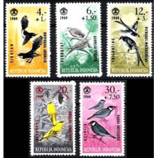 1965 Indonesia Mi.460-464 Social day, birds 3.40 ?