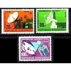 1976 Indonesia Mi.843-845 Satellite Dish 20+50+100R 4.20 ?
