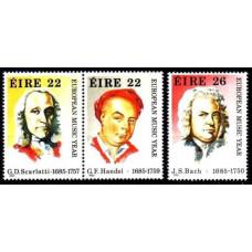 1985 Ireland (EIRE) Mi.565-567 Muzica 4.00 ?
