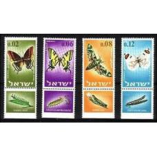1965 Israel Michel 352-355 Butterflies 1.10 ?