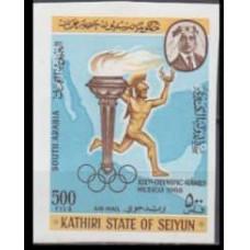 1967 Kathiri States of Seiyun Mi.163b 1968 Olympic Mexico 9,00