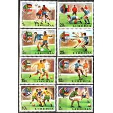 1974 Liberia Mi.921-928 1974 World championship on football of Munchen 3.50 ?