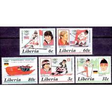 1987 Liberia Mi.1355-1359 1988 Olympiad Calgari 5.00 ?