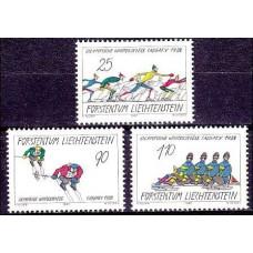 1987 Liechtenstein Mi.934-936 1988 Olympiad Calgari 3.50 ?