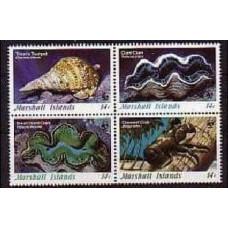 1986 Marshall Islands Mi.73-76VB Sea fauna 7.00 €