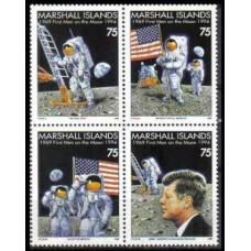 1994 Marshall Islands Mi.526-529 Apollo 11 25th Anniversary 7,00 €
