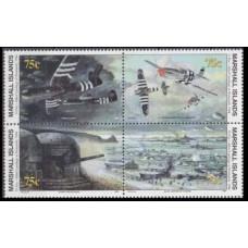 1994 Marshall Islands Mi.517-520VB I Planes 8,50 €