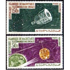 1963 Mauritania Mi.217-218 Satellite