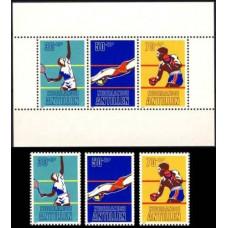 1981 Netherlands Antilles Mi.445-447+B16 Sport 6.20 ?