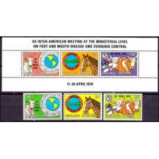 1979 Netherlands Antilles Mi.385-7+388-90/B9 Fauna 5.50 ?
