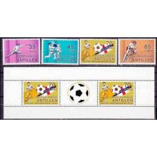 1982 Netherlands Antilles Michel 463-6+B191982 World championship on football of Spanien 10.50 €