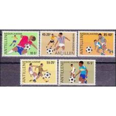 1985 Netherlands Antilles Michel 552-556 Football 7.50 €