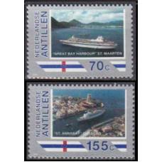 1989 Netherlands Antilles Mi.658-659 Ships 3,40 €